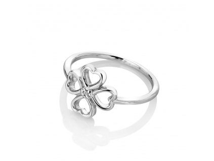 Stříbrný prsten Hot Diamonds Lucky in Love DR215