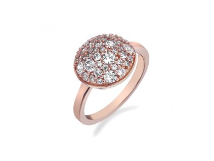 Stříbrný prsten Hot Diamonds Emozioni Bouquet Rose Gold