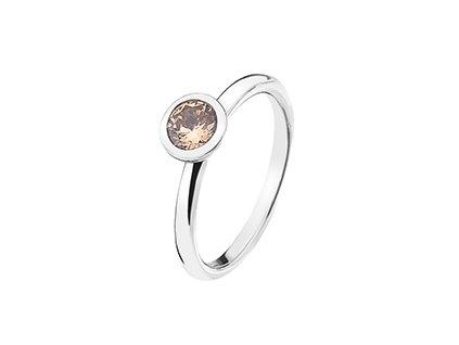Stříbrný prsten Hot Diamonds Emozioni Scintilla Champagne Loyalty