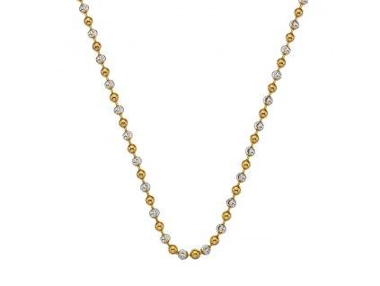 Stříbrný řetízek Hot Diamonds Emozioni Bead Yellow