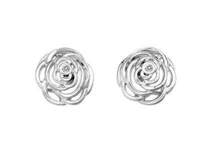 Stříbrné náušnice Hot Diamonds Eternal Rose Stud
