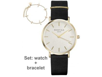 Dámské hodinky Rosefield DWBJG-D12 The West Village set s náramkem