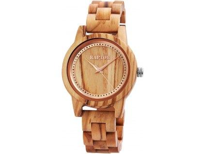 Dámské dřevěné hodinky Raptor 4049096782212