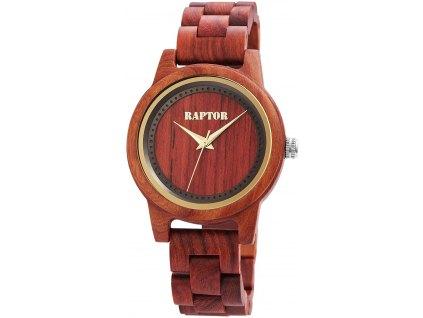 Dámské dřevěné hodinky Raptor 4049096782229