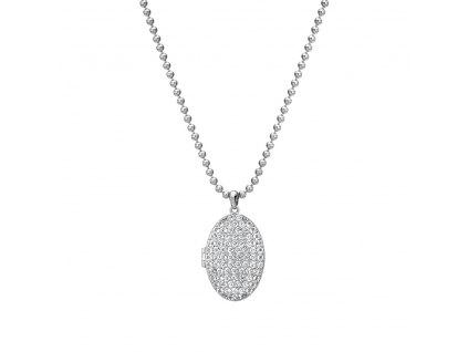 Stříbrný náhrdelník Hot Diamonds Memories Locket DP771