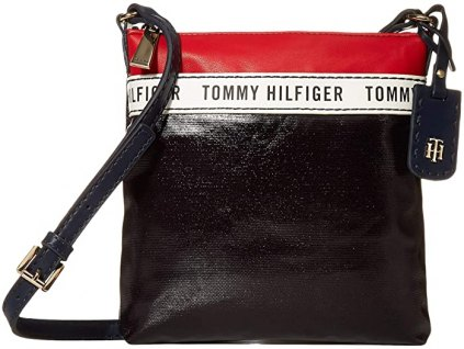Tommy Hilfiger Julia Coated Canvas Crossbody navy