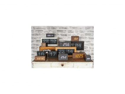 Designový LED budík - hodiny 5654BK Karlsson 21cm