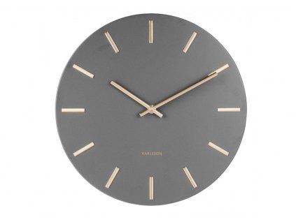 Designové nástěnné hodiny 5821GY Karlsson 30cm