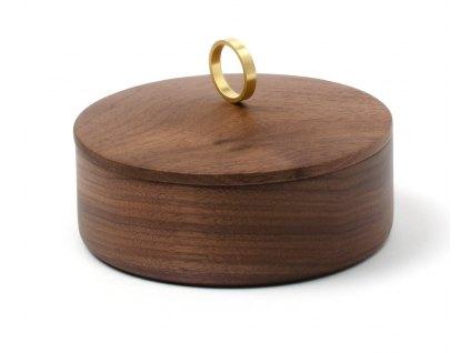 Luxusní šperkovnice Azahar Secret S Ring Walnut 10cm