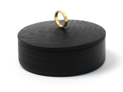 Luxusní šperkovnice Azahar Secret M Ring Ash 14cm