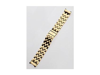 Řemínek na hodinky Perigaum P-0901 22mm zlatý