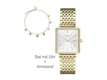 Dámské hodinky Rosefield BMWLBG-X241 The Boxy XS SET