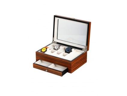 Box na hodinky a šperky Rothenschild RS-2271-8Z Zebra