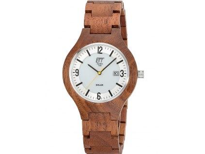 Pánské hodinky ETT EGW-12125-42SET Solar Osoyoos Wood