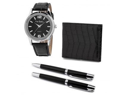 Pierre Cardin PCX8222G27 dárkový set hodinky + peněženka + 2x pero
