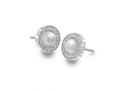 Stříbrné náušnice Hot Diamonds Emozioni Giove Pearl