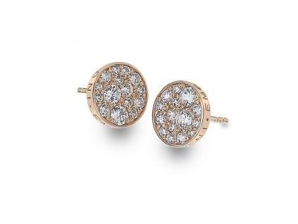Stříbrné náušnice Hot Diamonds Emozioni Scintilla Rose Gold