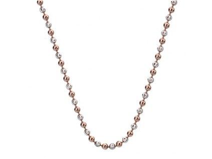 Stříbrný řetízek Hot Diamonds Emozioni Bead Silver Rose 45