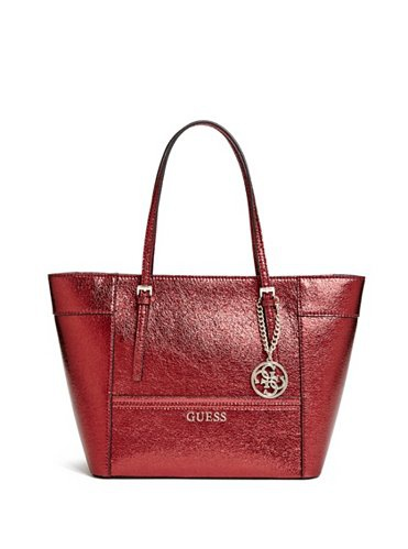 GUESS KABELKA DELANEY SMALL CLASSIC METALLIC TOTE