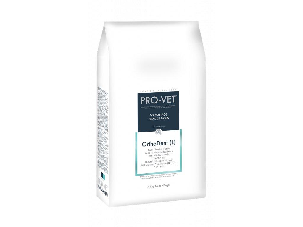 Veterinární granule pro psy - prevence a léčba dutiny ústní - PRO-VET Orthodent (L) 7,5 Kg