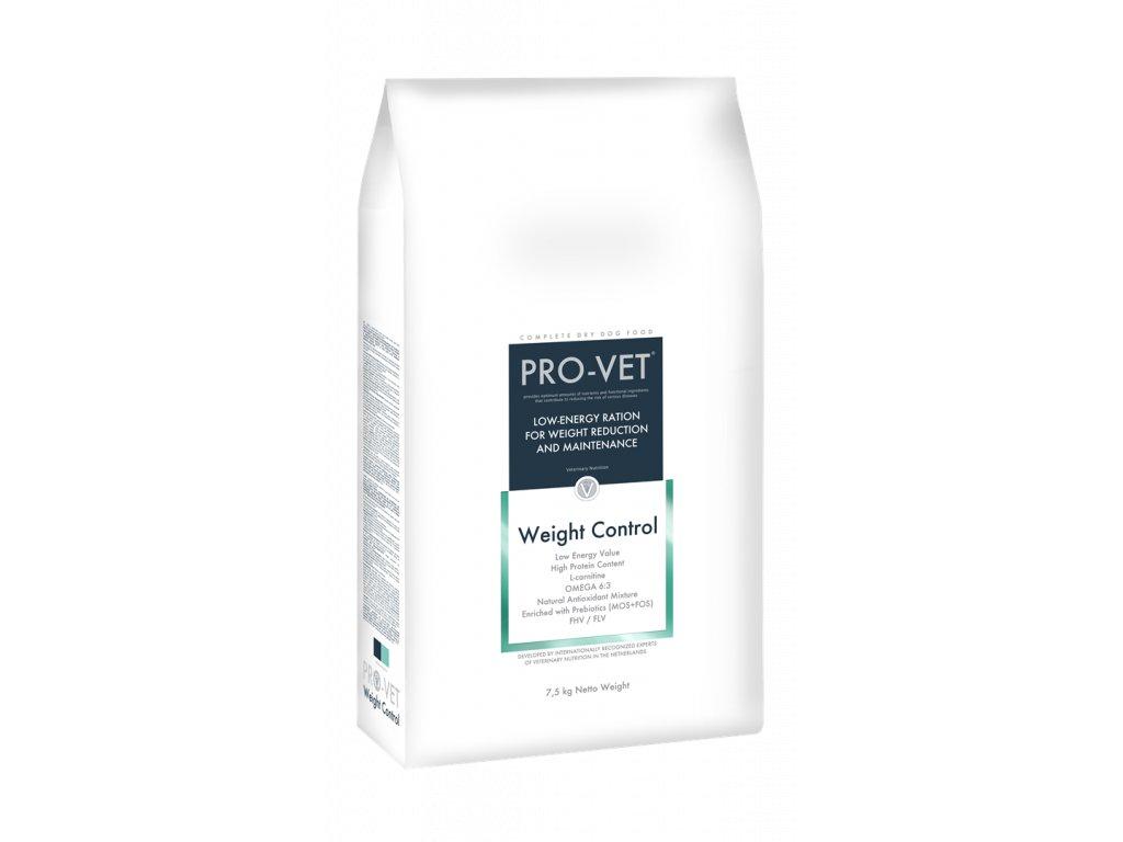 Veterinární granule pro psy - redukce a udržení hmotnosti - PRO-VET Weight Control 7,5 Kg