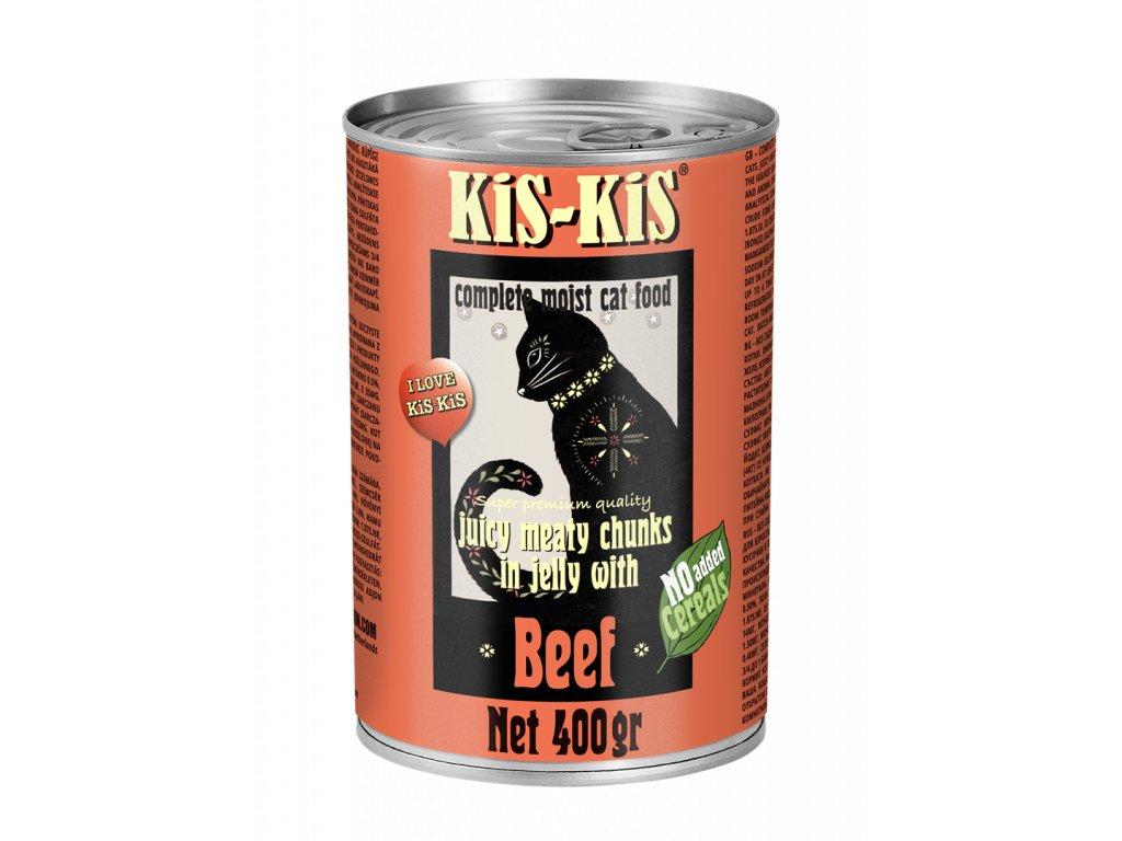 Konzerva pro kočky - KiS-KiS hovězí 400 g