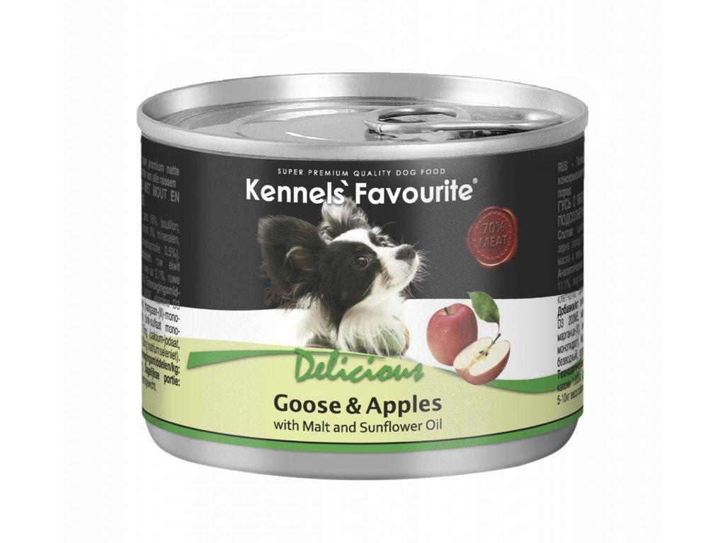 Konzerva pro psy - Kennels' Favourite husa + jablka se slunečnicovým olejem 200 g
