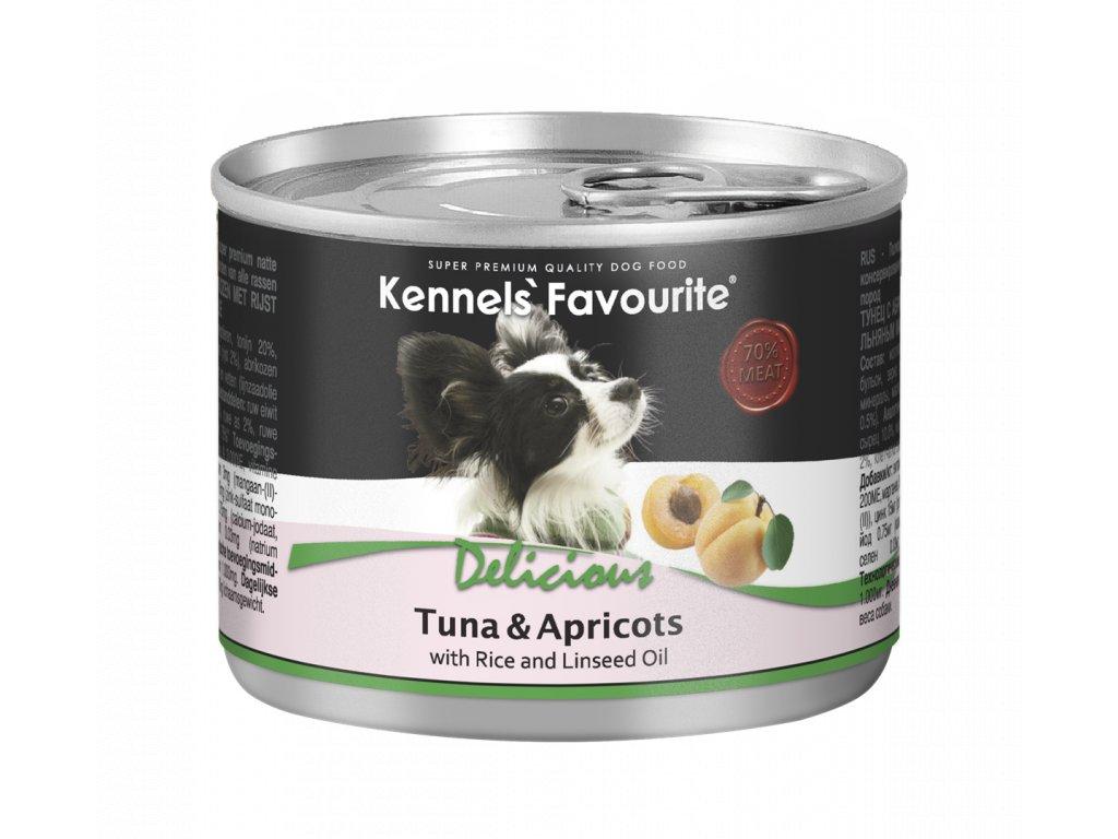 Konzerva pro psy - Kennels' Favourite tuňák + meruňka s lněným olejem 200 g