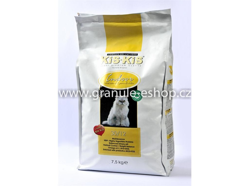 Granule pro kočky KiS-KiS Indoor 7,5 Kg