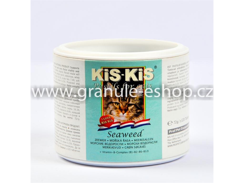 Vitamíny pro kočky KiS-KiS zelená řasa 72 g