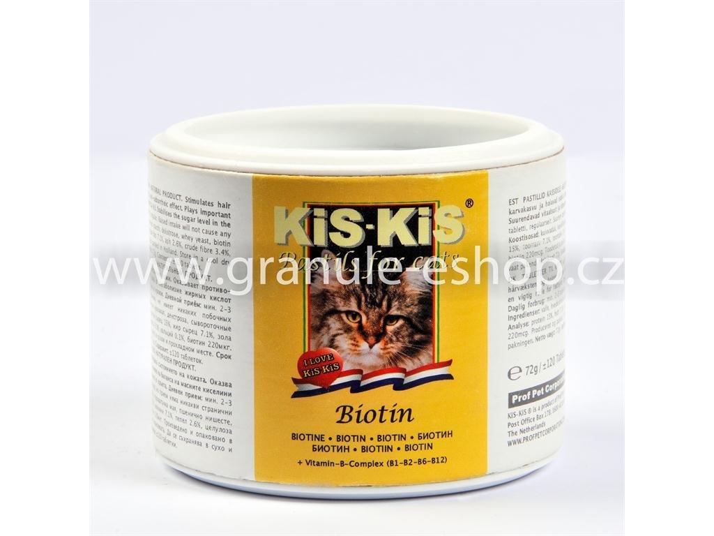Vitamíny pro kočky KiS-KiS s biotinem 72 g