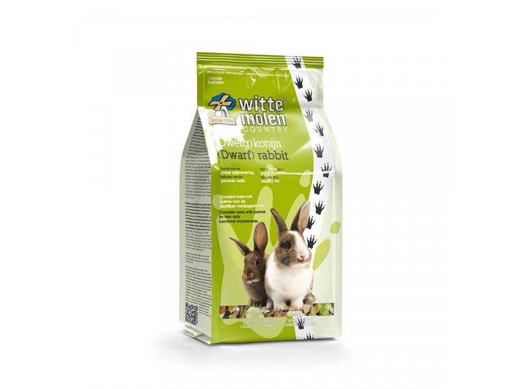 Krmení pro zakrslé králíky Witte Molen Country 2,5 Kg
