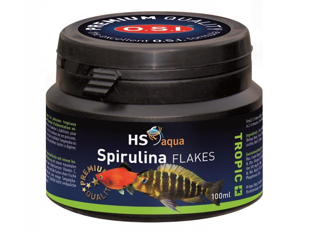 Krmení pro akvarijní ryby - O.S.I. Spirulina Flakes 100 ml