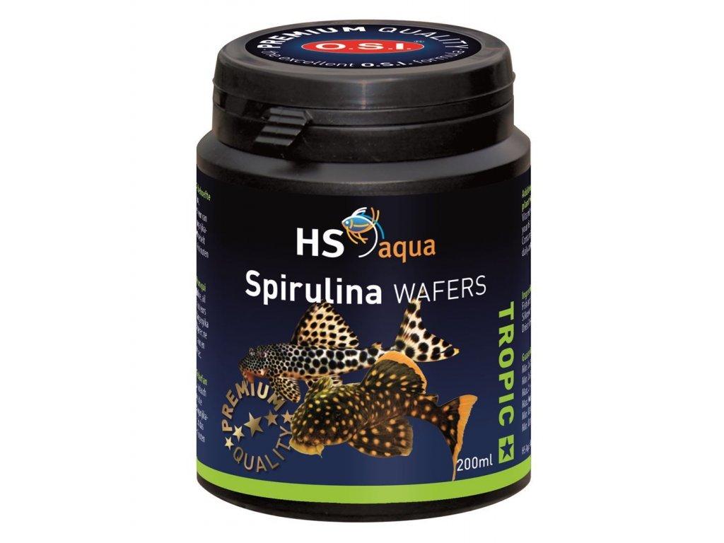 Krmení pro akvarijní ryby - O.S.I. Spirulina wafers 200 ml