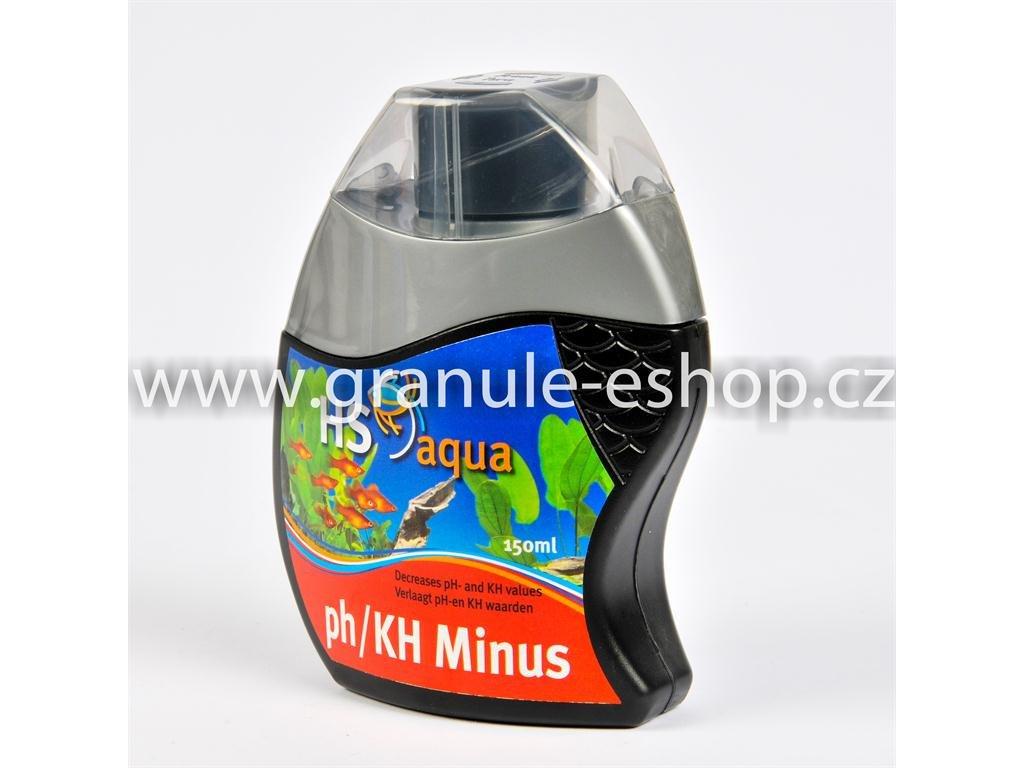 Přípravek na úpravu vody v akváriích - HS aqua pH/KH minus 150 ml