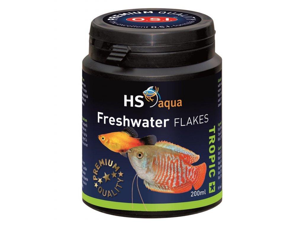 Krmení pro akvarijní ryby - O.S.I. Freshwater flakes 200 ml