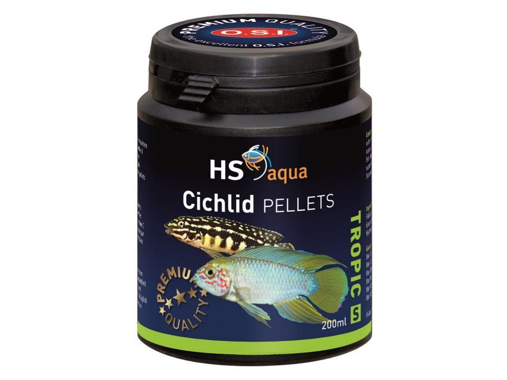 Krmení pro akvarijní ryby - O.S.I. Cichlid pellets 200 ml