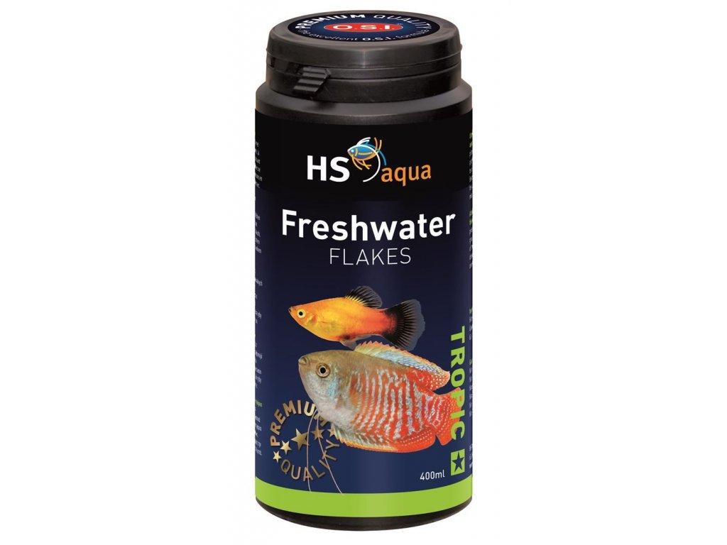 Krmení pro akvarijní ryby - O.S.I. Freshwater flakes 400 ml