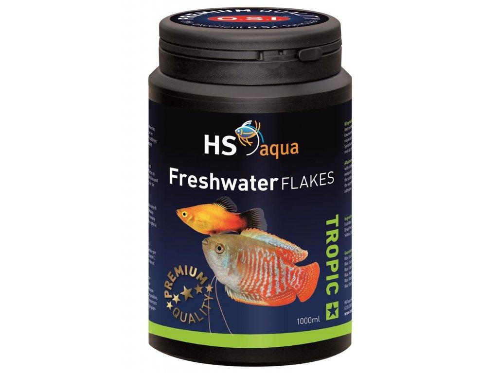 Krmení pro akvarijní ryby - O.S.I. Freshwater flakes 1000 ml
