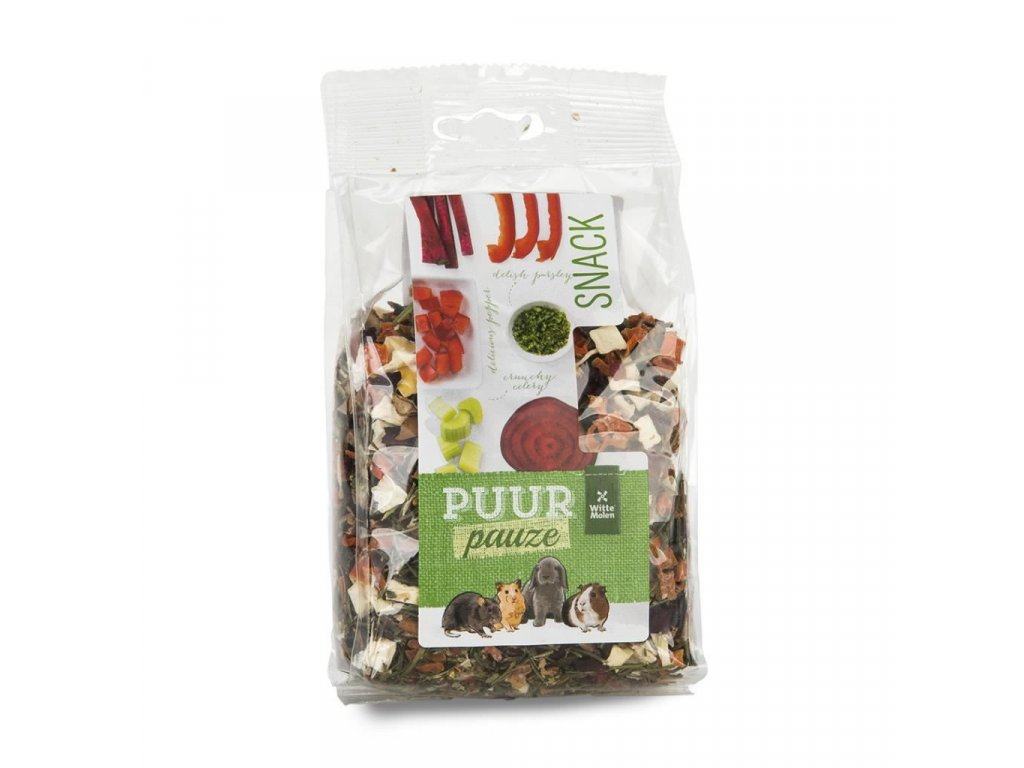 Pamlsek pro ptáky PUUR pauze sušená zelenina a bylinky Witte Molen 100 g