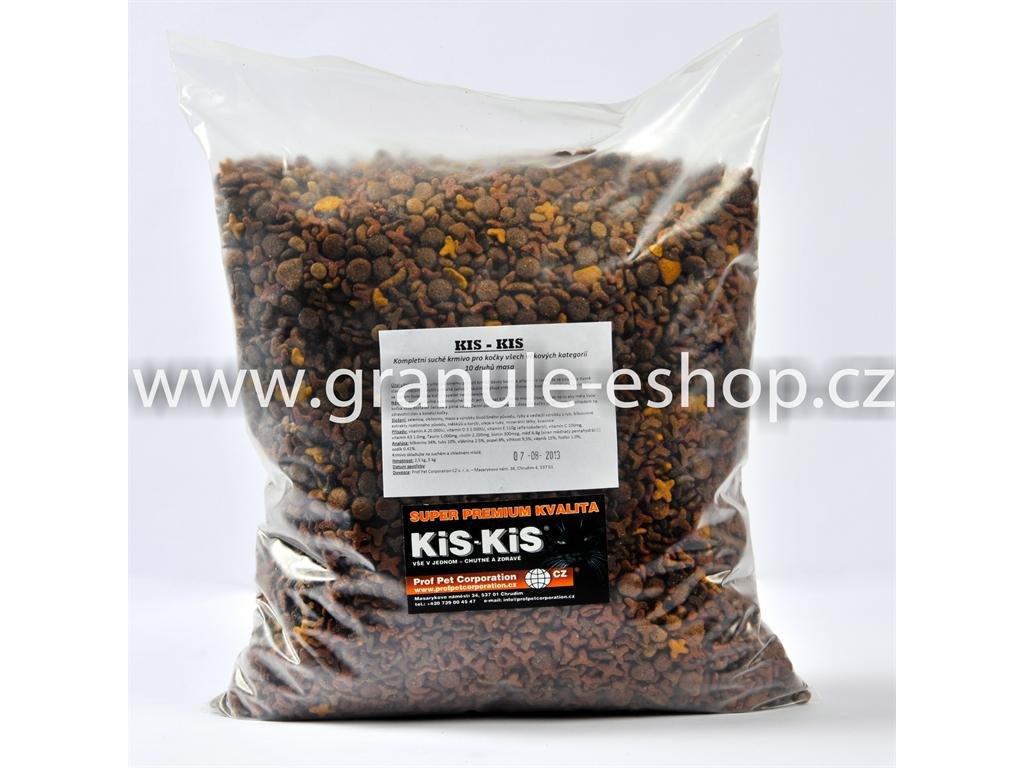 Granule pro kočky - KiS-KiS 10 druhů masa 5 Kg
