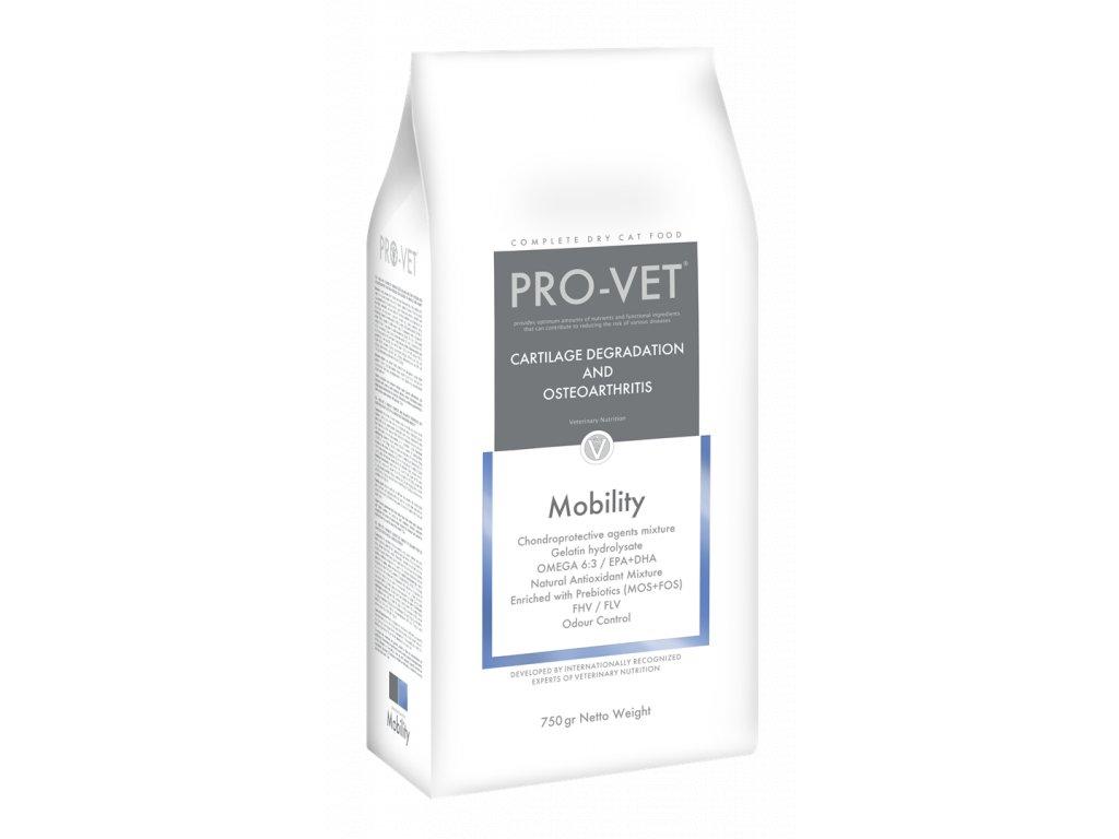 Veterinární granule pro kočky - klouby, snížená pohyblivost - PRO-VET Mobility 750 g