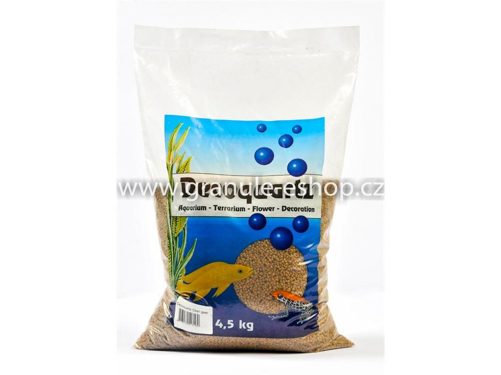 Dekorativní písek univerzální - HS aqua žlutý 4,5 Kg
