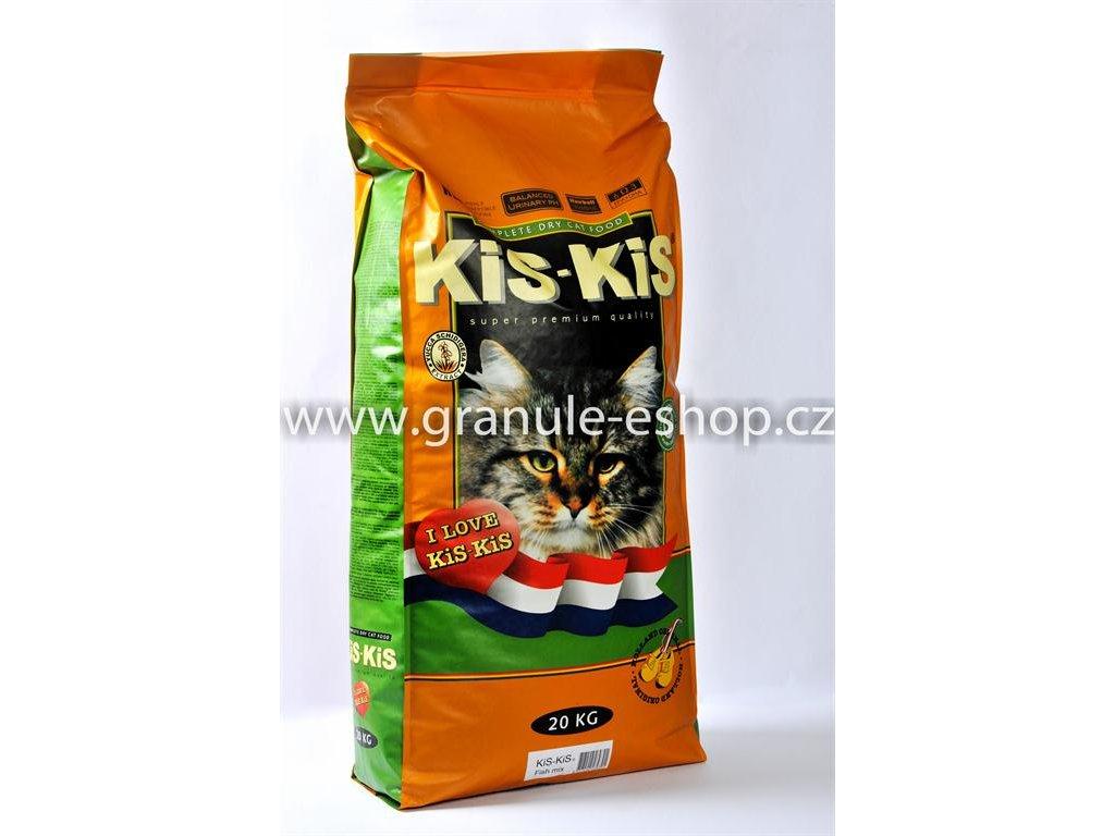 Granule pro kočky KiS-KiS Fish mix 20 Kg