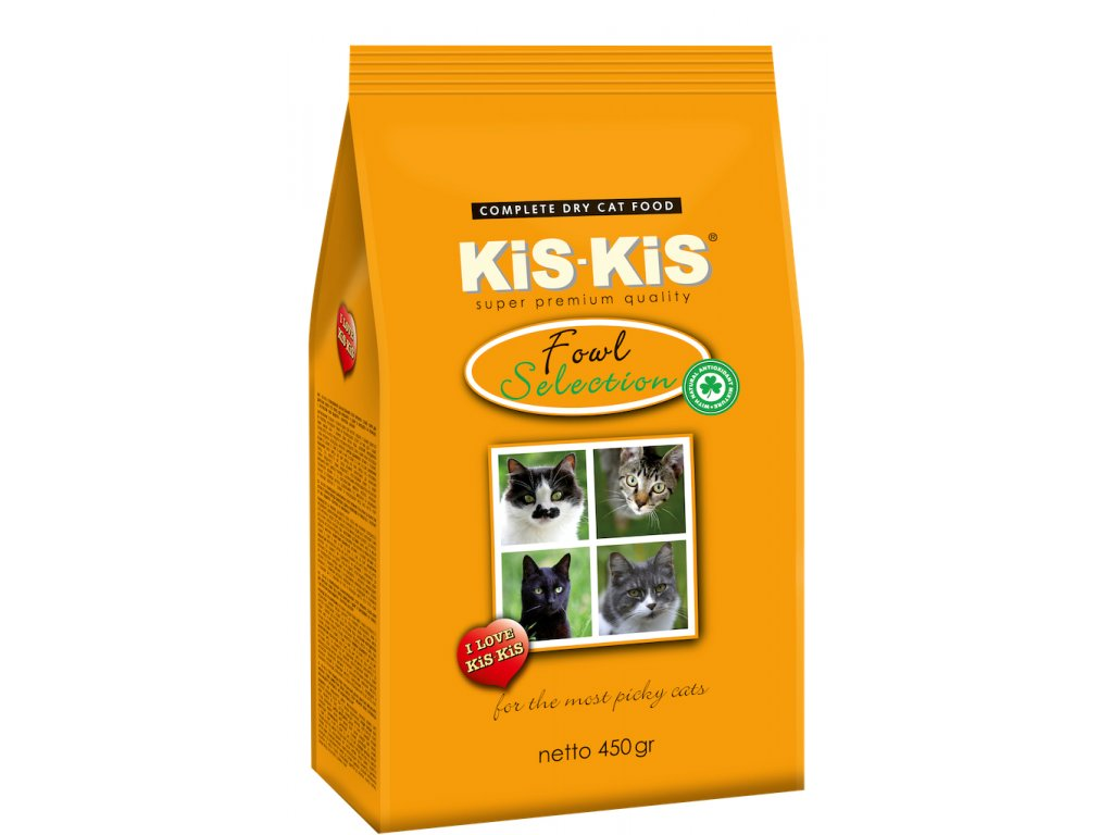 Granule pro kočky KiS-KiS Fowl selection 450 g