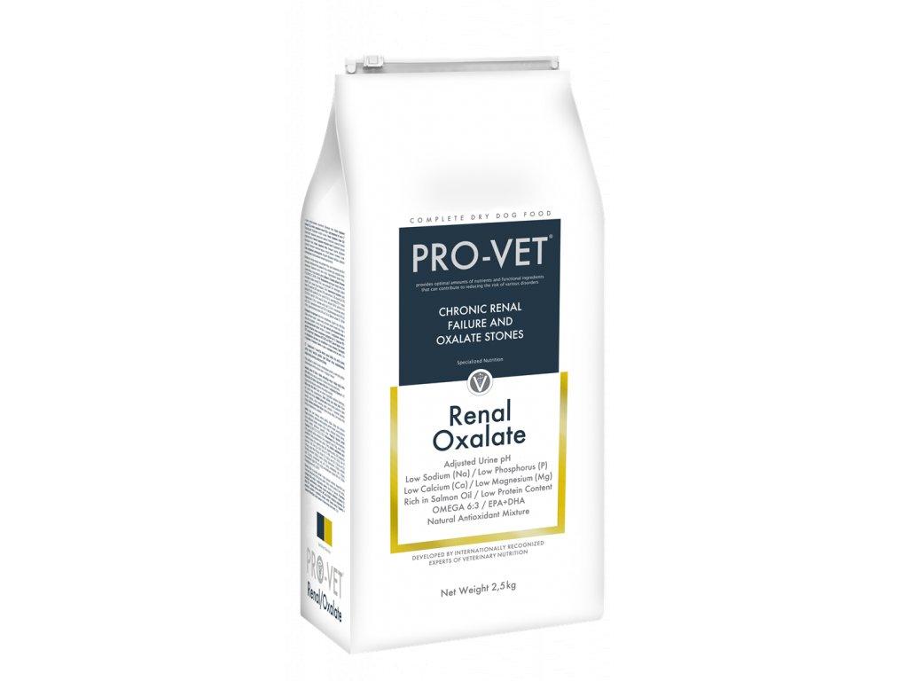 Veterinární granule pro psy - onemocnění ledvin - PRO-VET Renal Oxalate 2,5 Kg