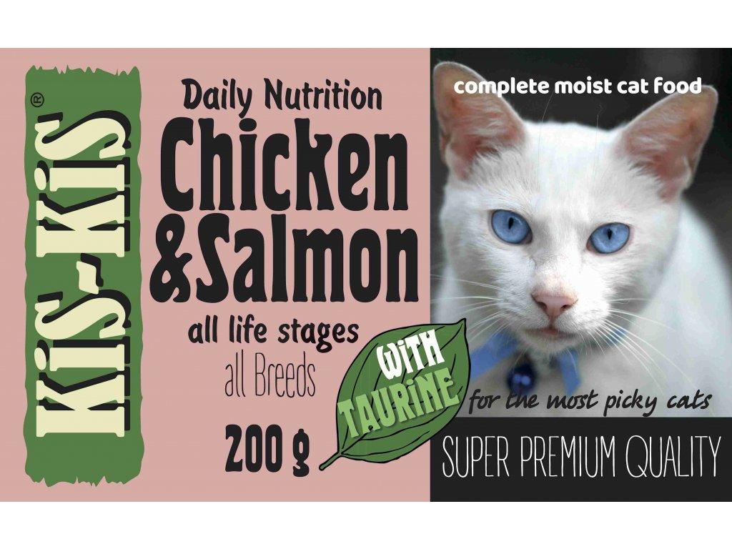 KiS KiS 200gr Chicken&Salmon