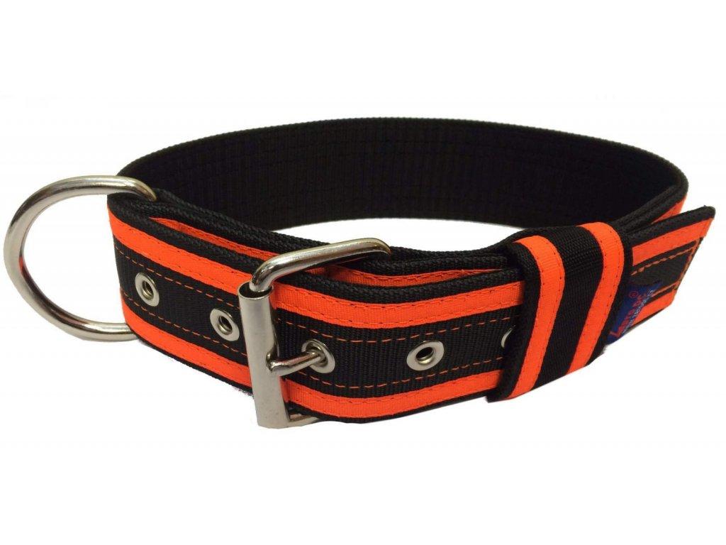 Obojek GIGA černá+neon oranžová