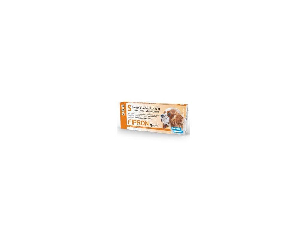 Fipron 67 mg Spot-On Dog S sol 1x2, 67ml  antiparazitní přípravek pro psy spot on