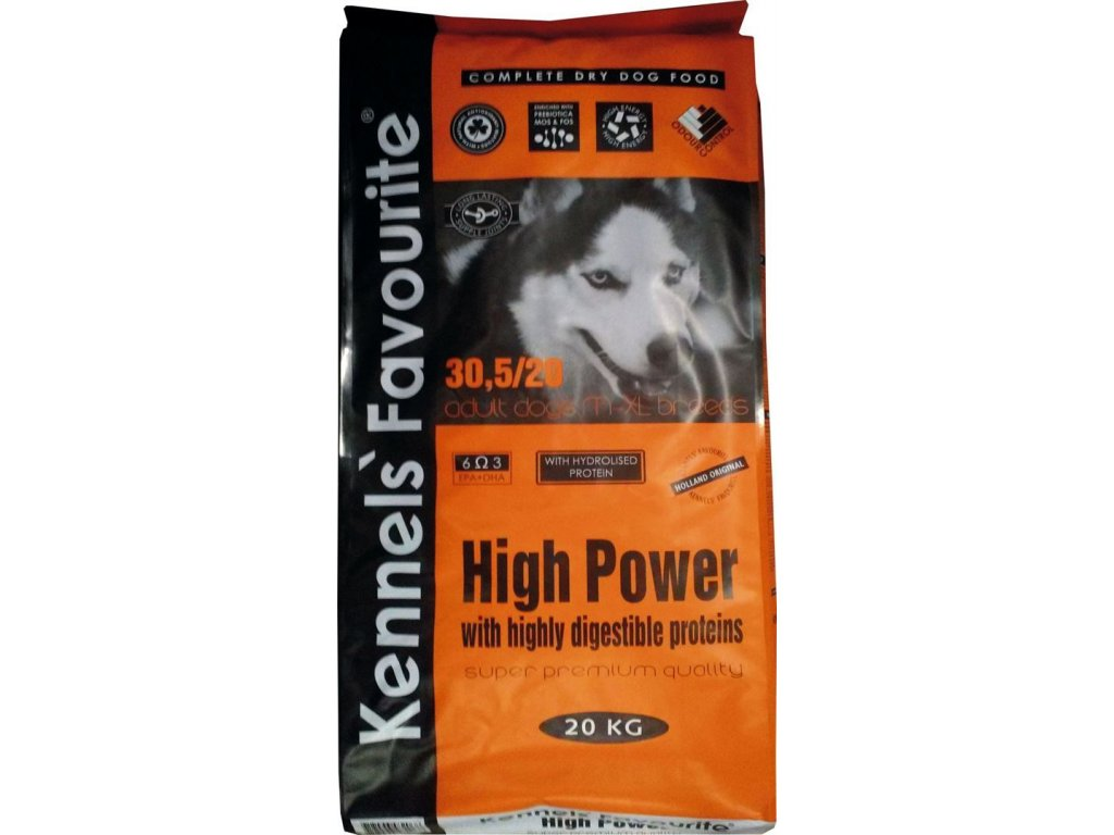 Granule pro psy - Kennels' Favourite High Power 20 Kg